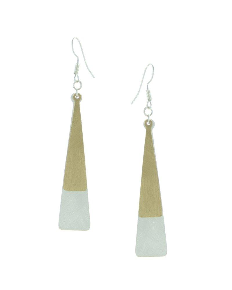 Takobia Two Tone Elegant Long Earrings