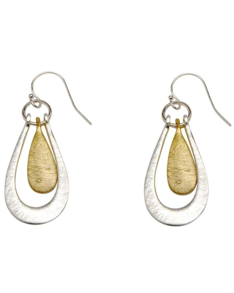 Takobia Two Tone Teardrop Earrings