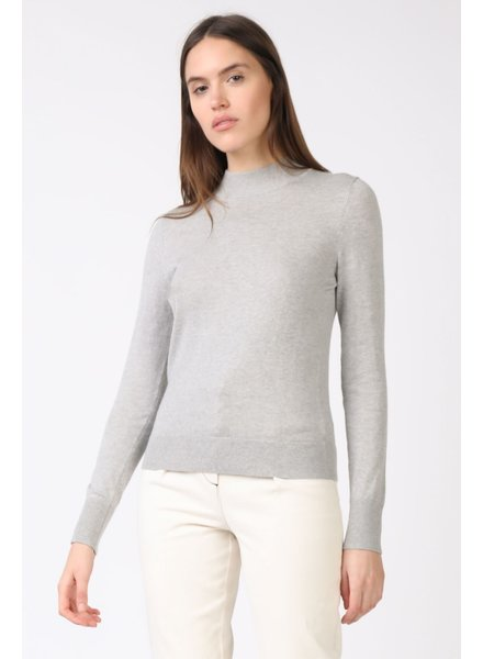 Current Air Grey Mock Neck Knit Sweater