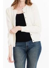 Tulip B Cream Traditional Button Front Cardigan