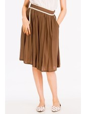 Tulip B Contrast Piping Mocha Vintage Skirt