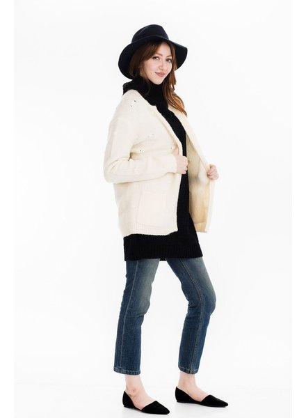 Tulip B Warm & Cozy Cream Cardigan
