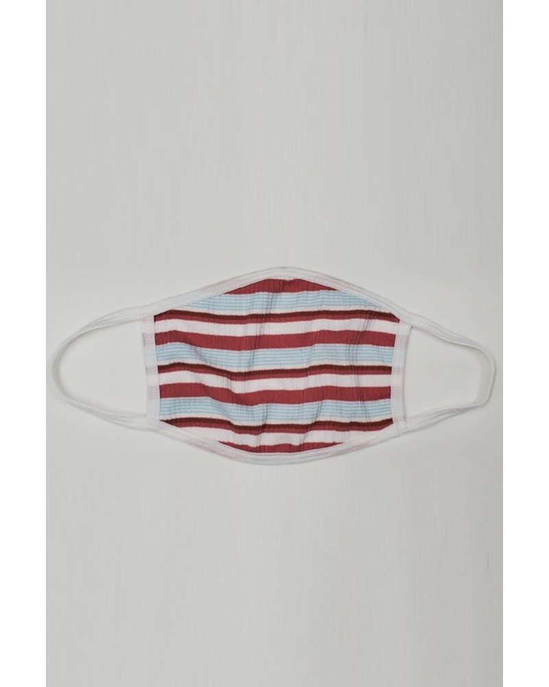 Veveret Red & Blue Striped Mask
