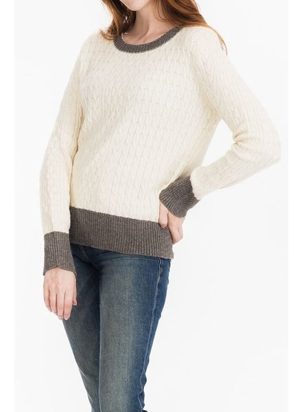 Tulip B Cream Cable Knit Sweater