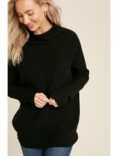 Trend Shop Black Slouch Neck Mia Sweater
