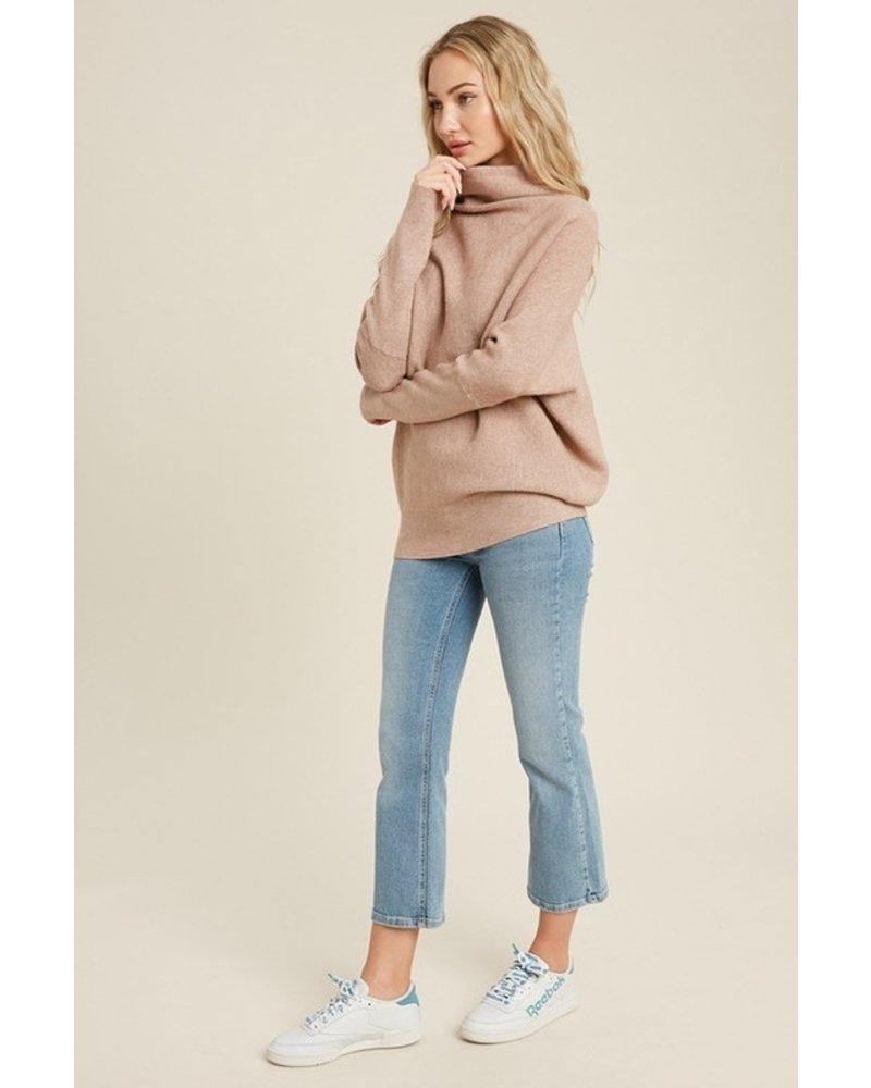 Trend Shop Latte Slouch Neck Mia Sweater