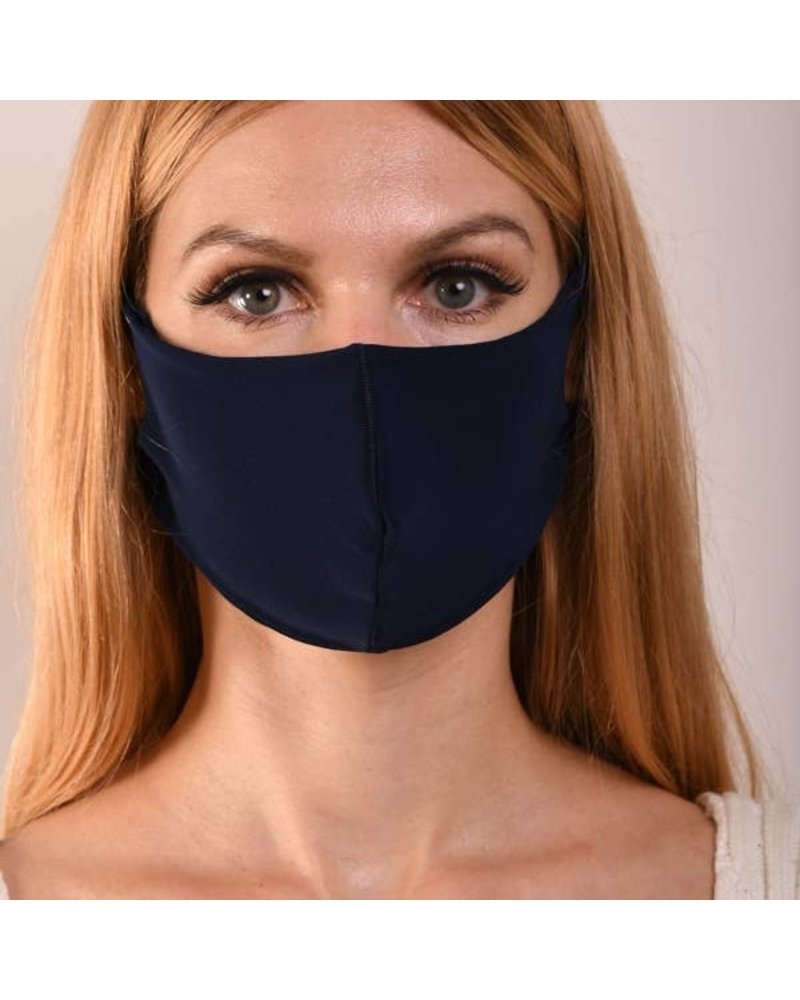 MIMOZZAS Navy Double Layer Mask