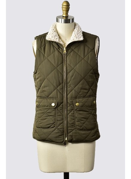 Trend Shop Olive Reversible Billington Vest