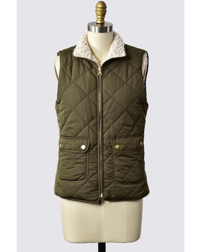 Trend Shop Olive Reversible Billington Vest