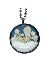 "Shari Dixon ""Succulents"" Silverleaf Medium Round Necklace"