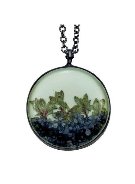 """Shari Dixon """"Succulents"""" Thyme Medium Round Necklace"""