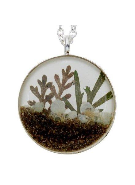 "Shari Dixon ""Succulents"" Mixed Foliage Medium Round Necklace"
