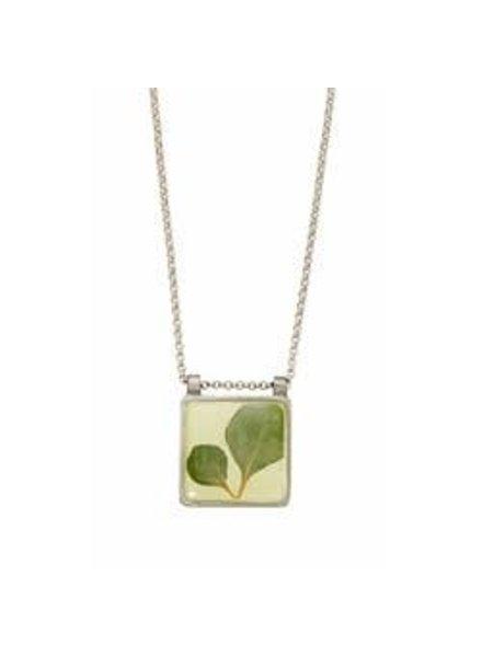 Shari Dixon Silver Leaf Square Necklace