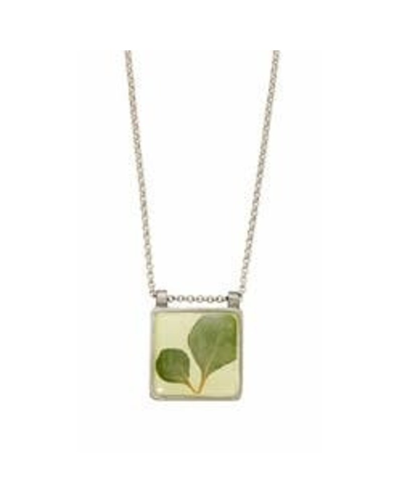Shari Dixon Silver Leaf Square Necklace