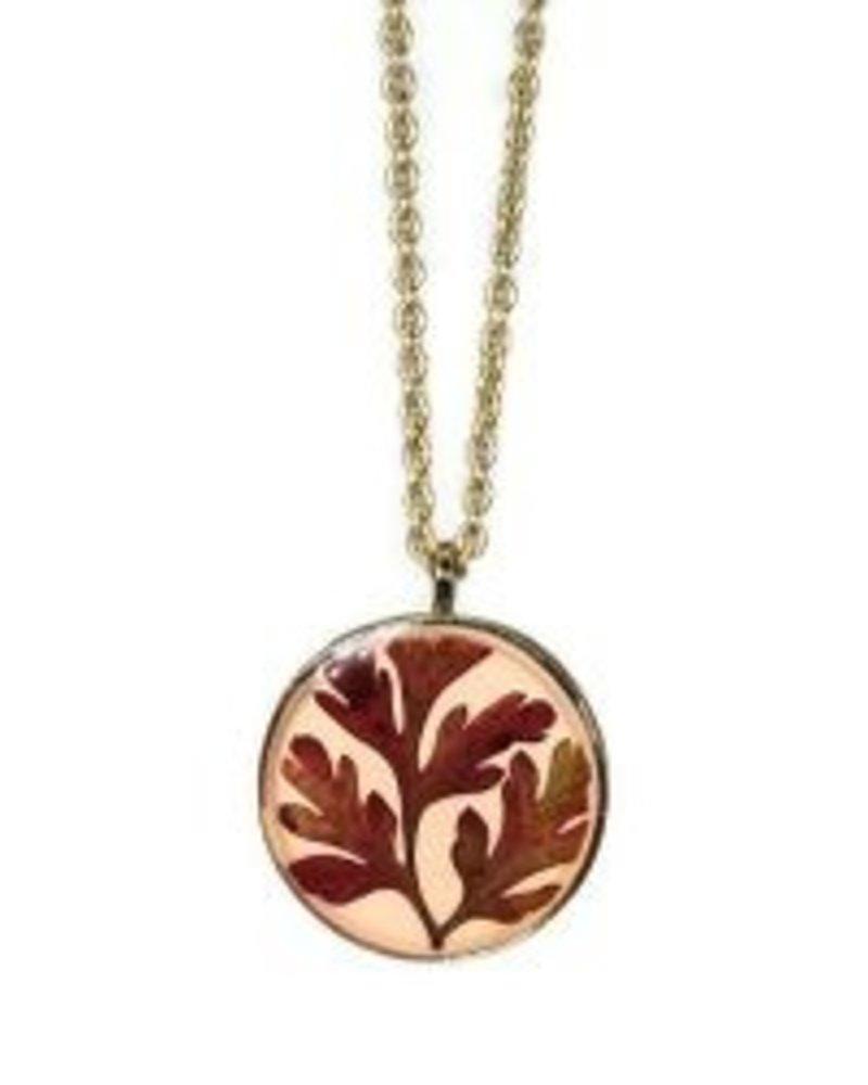 Shari Dixon Botanic Inspirations Red Fern Medium Necklace