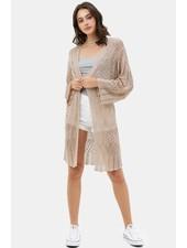 Trend Shop Khaki Lace Bell Sleeve Cardigan