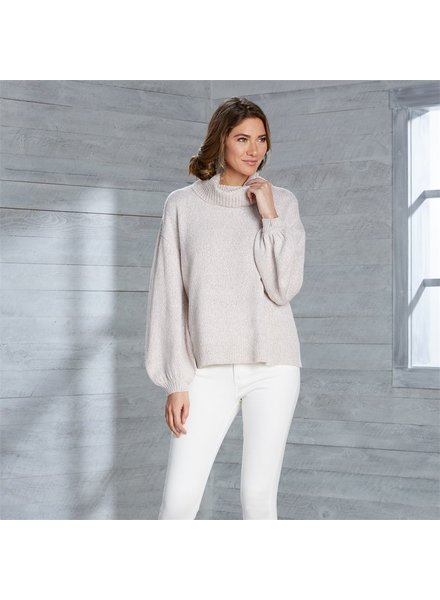 Mud Pie Blush Audrey Turtleneck Sweater