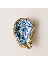 Grit & Grace Studio Floral Indigo Decoupage Oyster Ring Dish