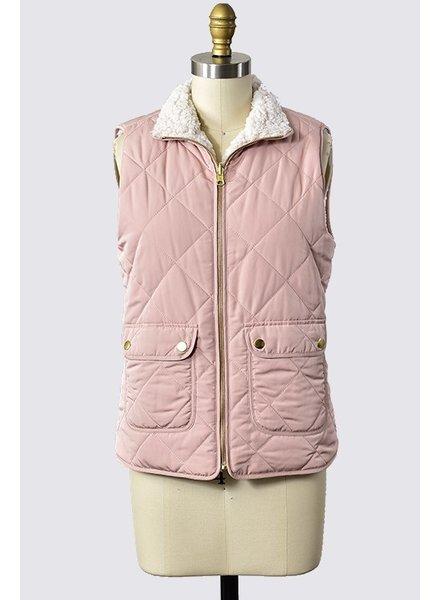 Trend Shop Blush Reversible Billington Vest