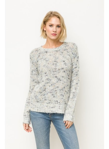 Mystree Grey Blend Textured Sweater