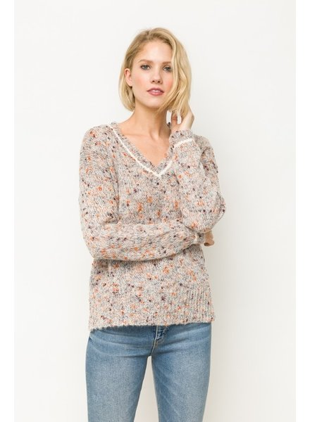 Mystree Autumn V-Neck Sweater