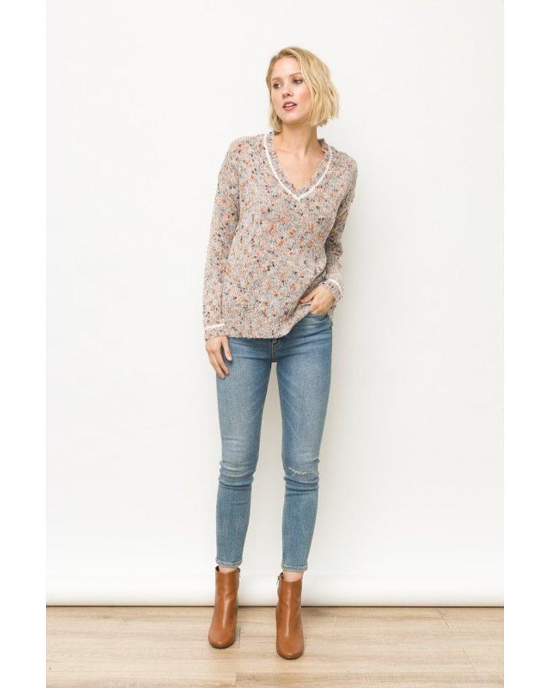 Mystree Autumn V-Neck Sweater