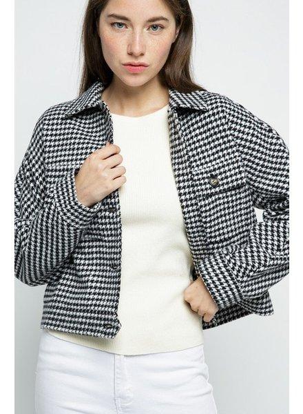 Trend Shop Houndstooth Blazer Jacket
