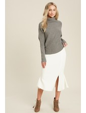 Trend Shop Annie Flair Sweater Skirt - Cream
