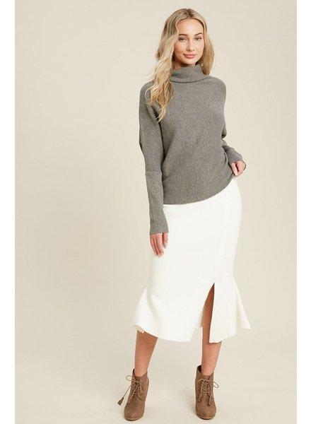 Trend Shop Annie Flair Sweater Skirt - Cream