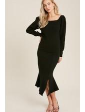 Trend Shop Annie Flair Sweater Skirt - Black
