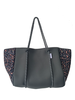 Ahdorned Dark Grey Leopard Neoprene Tote