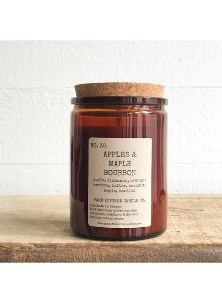 Farm Kitchen Candle Co. Apples & Maple Bourbon Farm Kitchen Candle