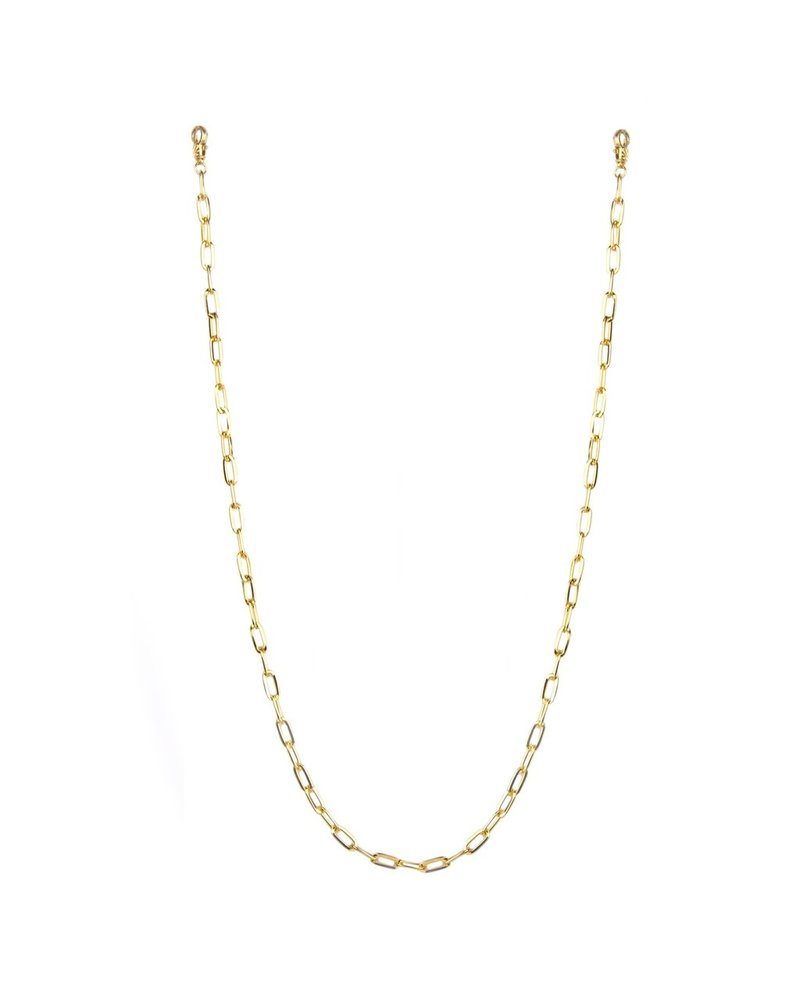 """Marlyn Schiff Jewelry 26"""" Gold Large Mask Chain"""