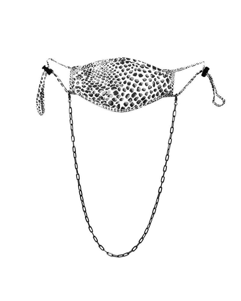 "Marlyn Schiff Jewelry 26"" Hematite Large Mask Chain"