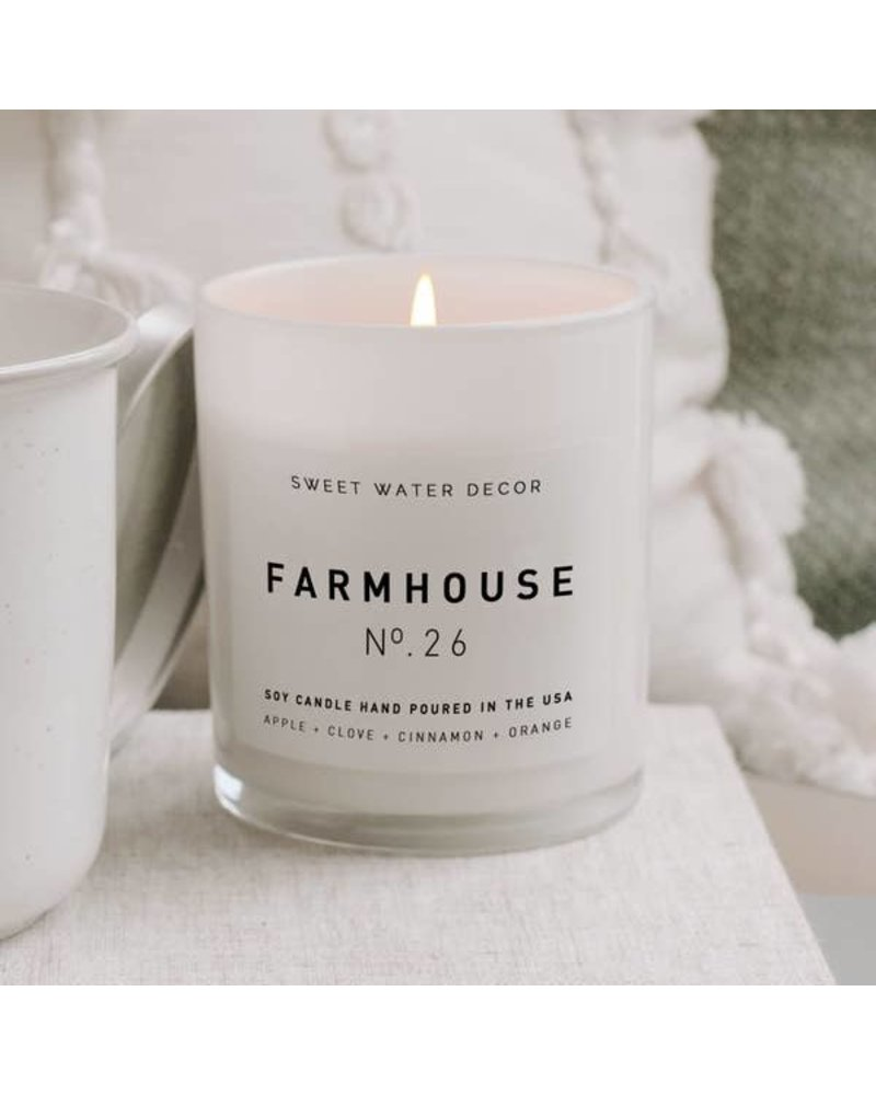 Sweet Water Decor Farmhouse Soy Candle - White Label