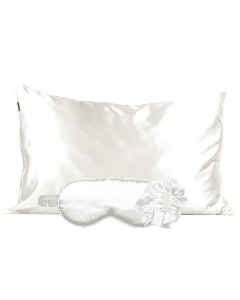 Kitsch Ivory Satin Sleep Set