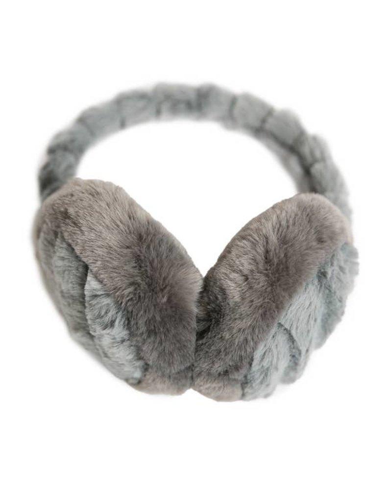 Top It Off Monica Grey Faux Fur Earmuff