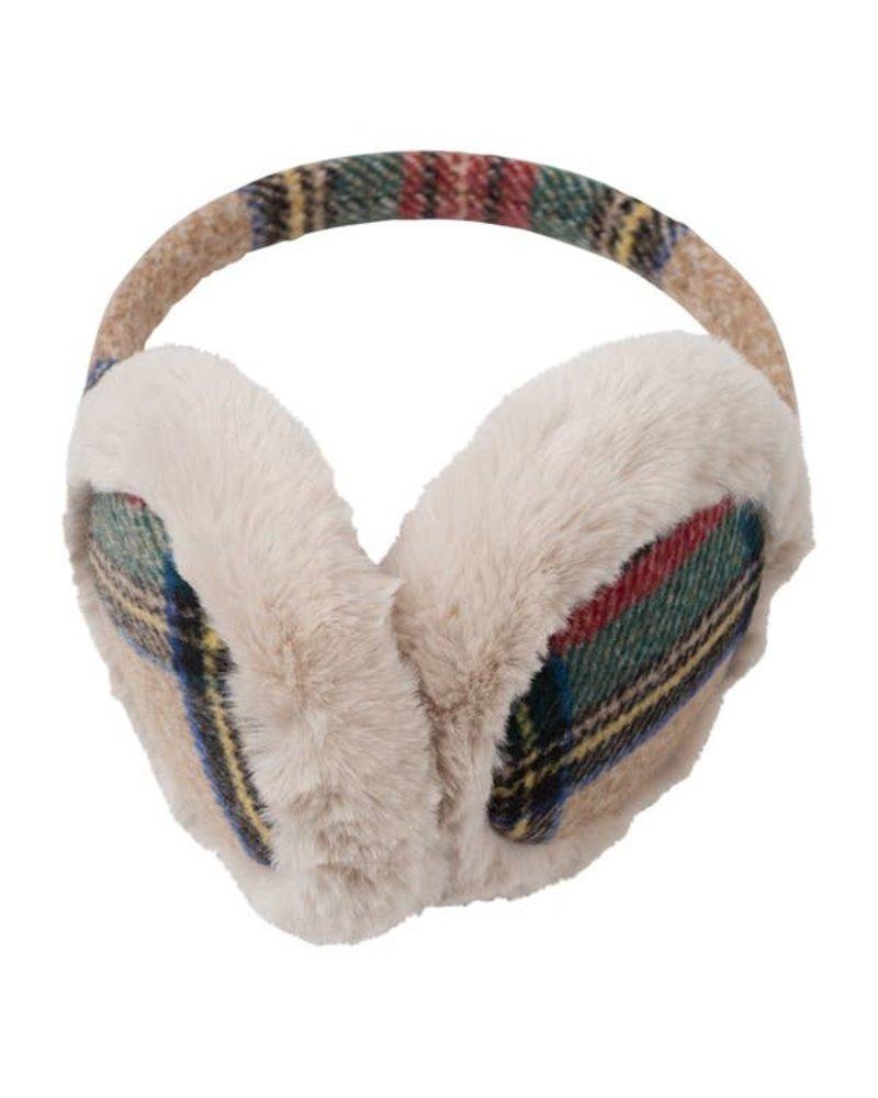 Top It Off Mallory Camel Plaid Earmuff