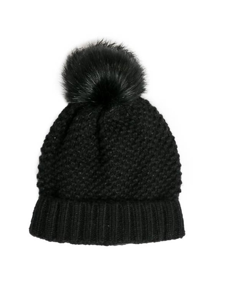 Top It Off Reese Black Hat