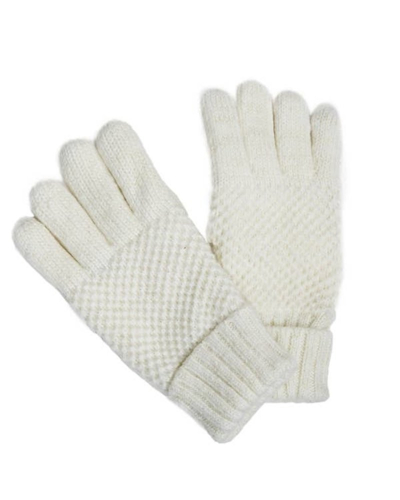 Top It Off Reese White Gloves