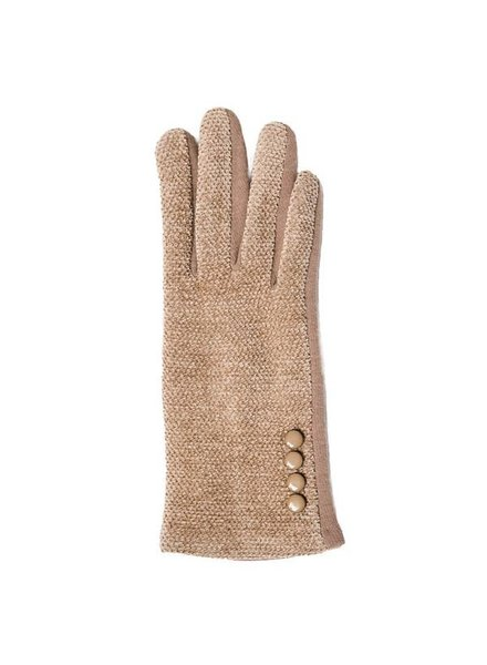 Top It Off Chenille Camel Gloves
