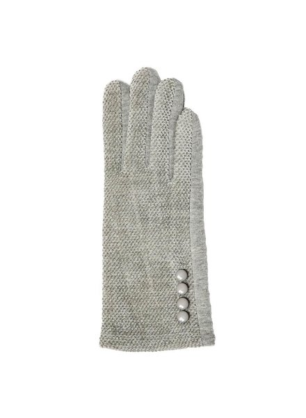 Top It Off Chenille Grey Gloves