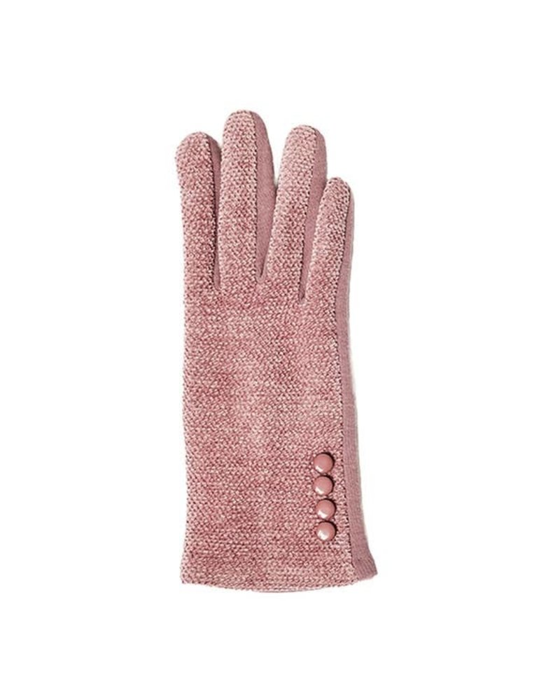 Top It Off Chenille Lt. Pink Gloves