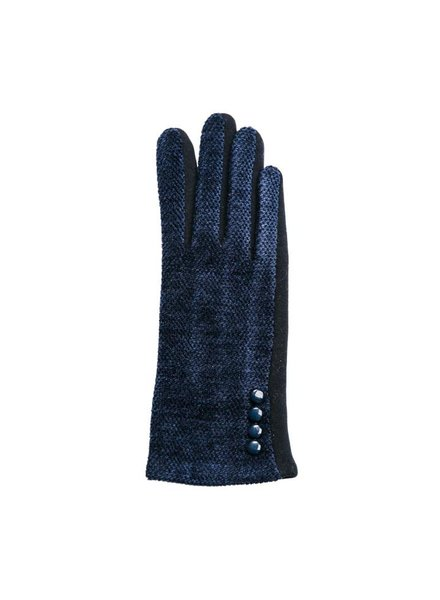 Top It Off Chenille Navy Gloves