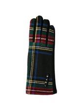 Top It Off Charlie Black Plaid Gloves