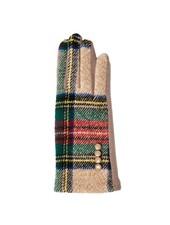 Top It Off Charlie Camel Plaid Gloves