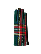 Top It Off Charlie Green Plaid Gloves