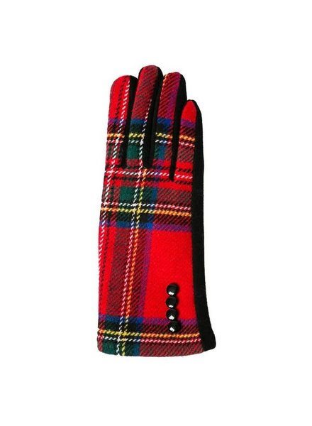Top It Off Charlie Red Plaid Gloves