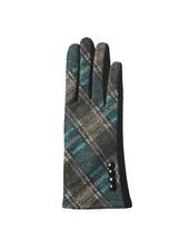 Top It Off Parker Teal Plaid Gloves