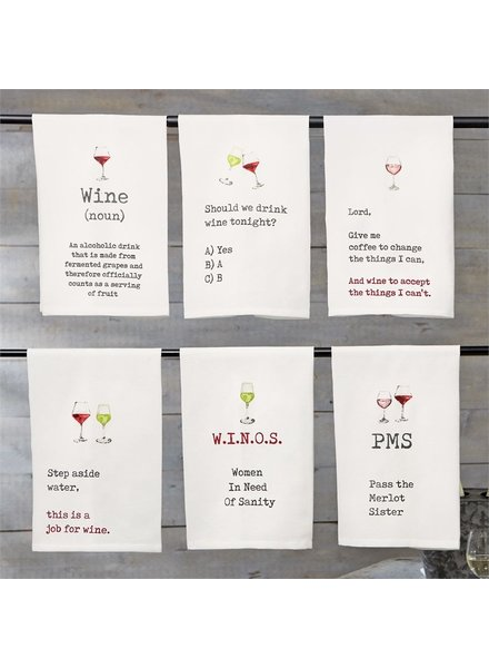 Mud Pie Wine Hand Towels